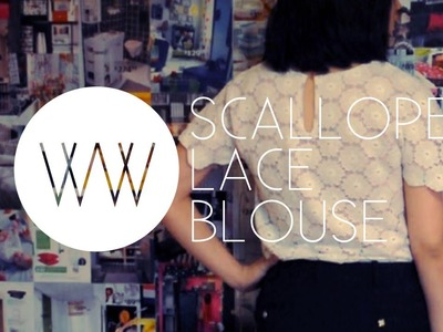 How to Make a Scalloped Lace Blouse