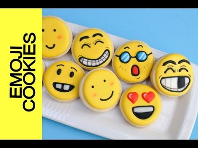 HOW TO MAKE EMOJI COOKIES, DECORATING WITH ROYAL ICING