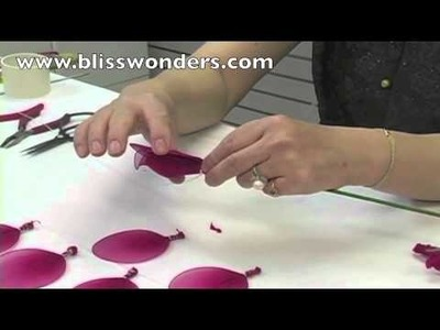 How To Make Nylon Flowers 02 (Large Rose) blisswonders.com