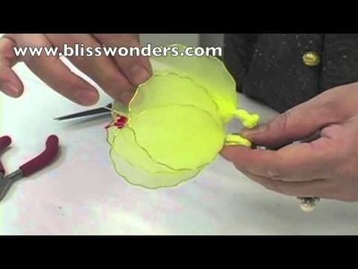 How To Make Nylon Flowers 06 (Hibiscus) blisswonders.com