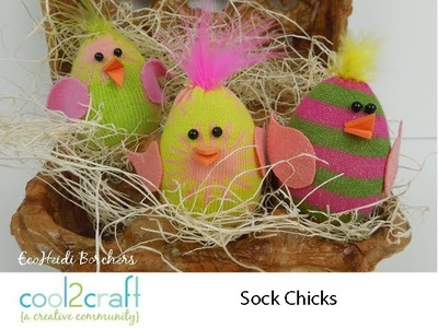 How to Make Plastic Egg Sock Chicks by EcoHeidi Borchers