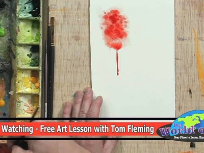 How to use Bleeding and Dripping Techniques in Watercolor