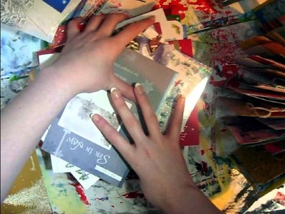 Make an Art Journal By Recycling Greetings Cards: Tutorial Part I