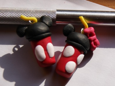 Mickey and Minnie Mouse Tumbler: Polymer Clay