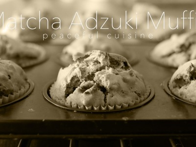 [No Music] How to make Matcha & Adzuki beans Muffin
