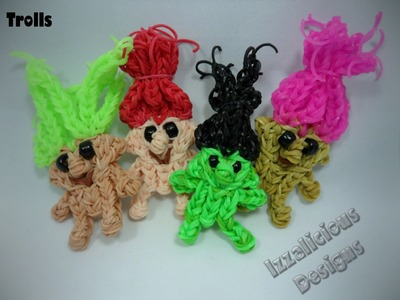 Rainbow Loom Troll Doll.Action Figure Tutorial