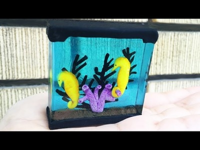 SEAHORSE TANK AQUARIUM Resin and Polymer Clay Tutorial