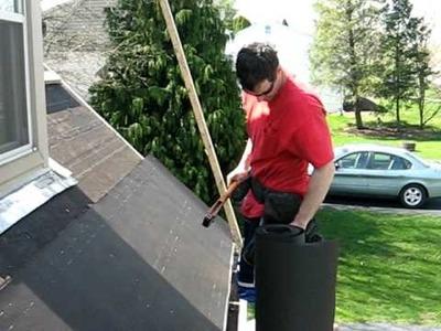 Stapling Felt paper in Preparation for Asphalt Roofing