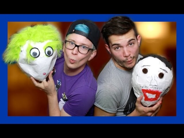 Terrible Paper Mâché Heads (ft. Korey) | Tyler Oakley