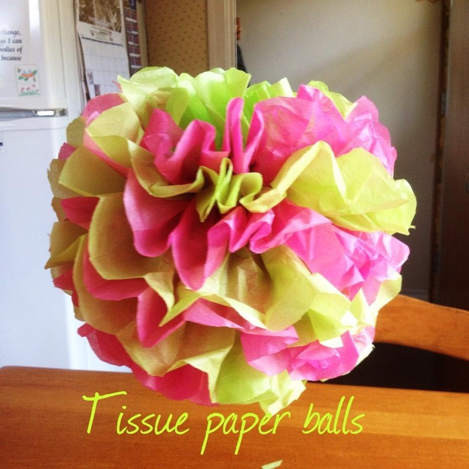 Tissue Paper Balls | Baby Shower On A Budget Mini Series