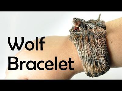 Wolf bracelet - polymer clay TUTORIAL