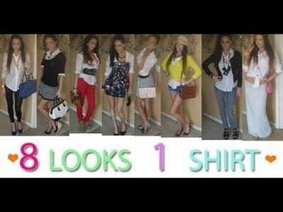 8 LOOKS ♡ 1 SHiRT