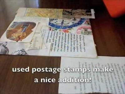 Art Journal - vintage paper collage backgrounds & photos!