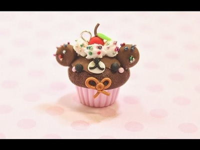 Bear Cupcake Polymer Clay Tutorial