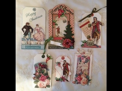 Beginners tutorial Christmas gift tags -Tag cards G45 The twelve days of Christmas