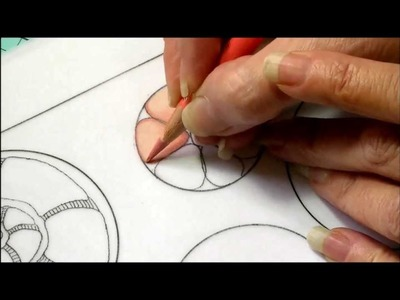 Color pencil tutorial. zentangle inspired art, color blending. Part One