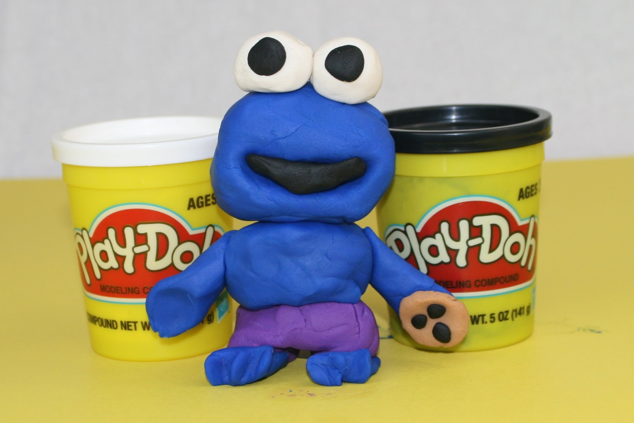 Cookie Monster Play Doh How To Make a PlayDoh Cookie Monster Sesame Street Play Doh