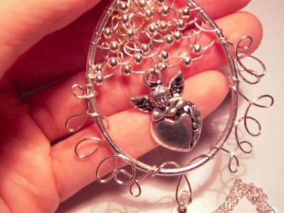 ~Dancing Wires~ Angel in My Heart Wired Pendant