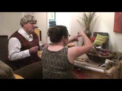 """Deanne Fitzpatrick """"Teaching Grandma to Hook"""" Rug Hooking - Funny"""