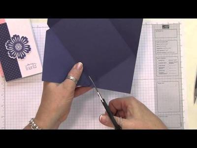 Diagonal Plate Note Card Envelope