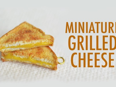GRILLED CHEESE: polymer clay tutorial