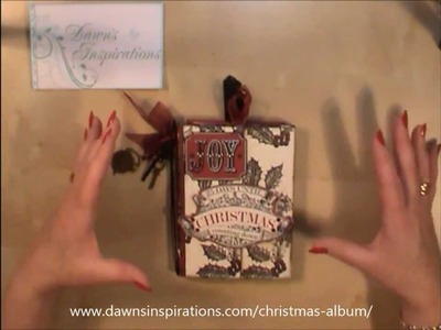 How to make a Christmas Mini Album Online Workshop Tutorial