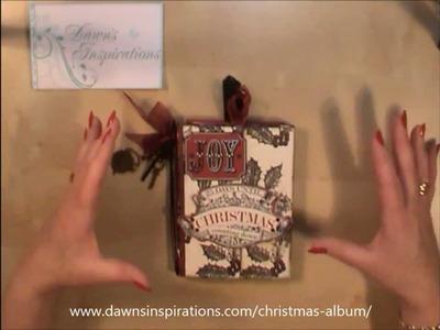 How to make a Christmas Mini Album Online Workshop Tutorial