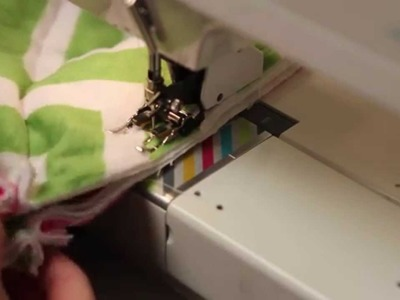 How to sew rows together on a rag quilt