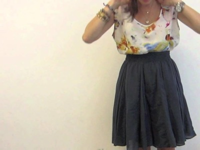 How To Style :  A Circle Skirt
