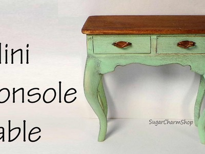 Miniature Console Table Tutorial - Dolls.Dollhouse