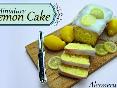 Miniature Lemon Cake and whole lemons - Polymer Clay tutorial
