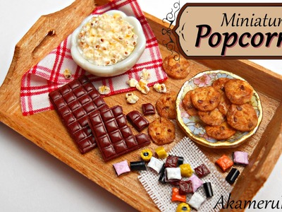 Miniature Popcorn - Polymer clay tutorial