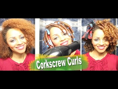 Natural Afro Hair Journey: Flexy Rod Cork Screw Curls