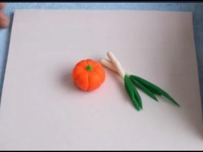 Play Dough Creations: Make Vegetable & Fruits -- Fresh Pumpkin Craft
