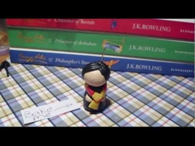 Polymer clay chibi harry potter charm