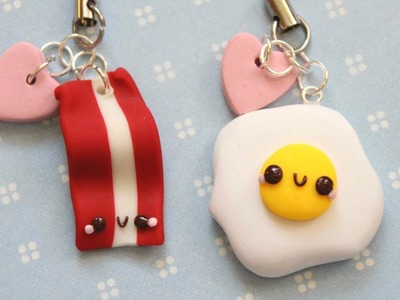Polymer Clay Tutorial - Egg and Bacon Friendship Charms