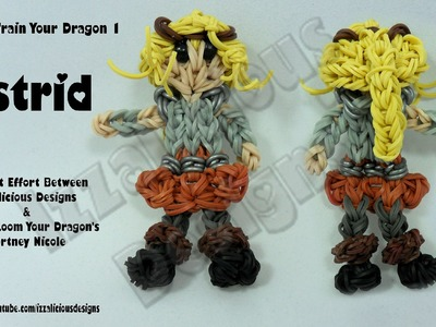 Rainbow Loom - Astrid from How To Train Your Dragon 1 - Action Figure.Charm - Gomitas