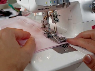 Tutorial: how to thread a cover stitch with the BERNINA overlocker. serger L 220