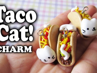 Tutorial: TacoCat polymer clay charm