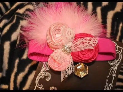 Vintage Inspired Feather Headbands