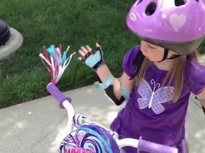 4 year old teaches how to ride a bike without training wheels