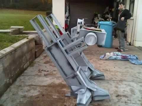 Coolest Homemade Robot Halloween Costume