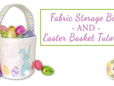 Fabric Storage Bin and Easter Bucket Tutorial | with Jennifer Bosworth of Shabby Fabrics