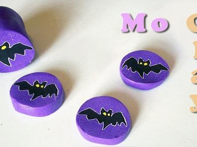 Halloween Tutorial Polymer Clay cane Bat - Día de los muertos Murciélago - Murrina Pipistrello