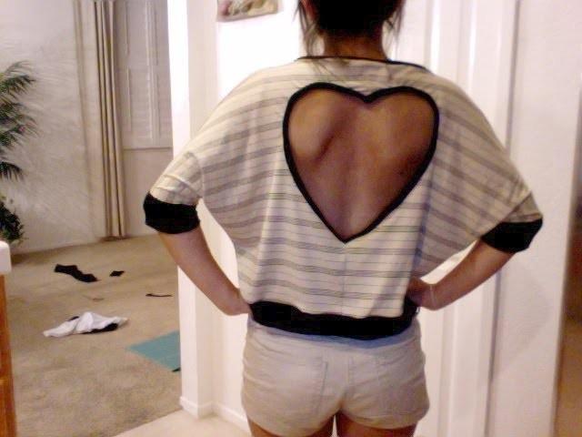 Heart Cut-Out Shirt Tutorial
