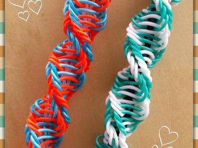 """Helicoid"" Rainbow Loom Bracelet.How To Tutorial"