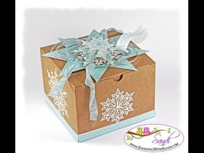 How to create the Festive Flurry Extra Large Gift Box from Stampin Up