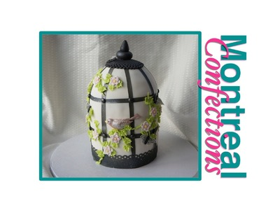 How to decorate a cake - 2 - Birdcage cake video tutorial