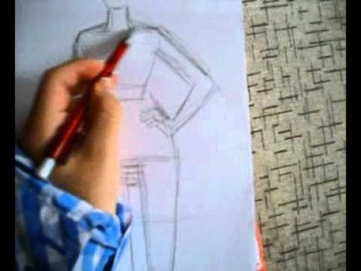 How to draw a fashion sketch a