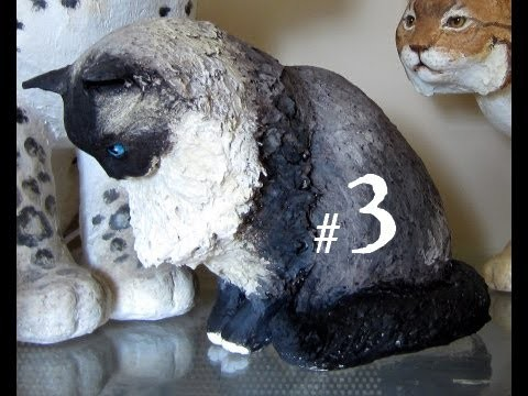 How to Make a Paper Mache Cat, Lesson #3